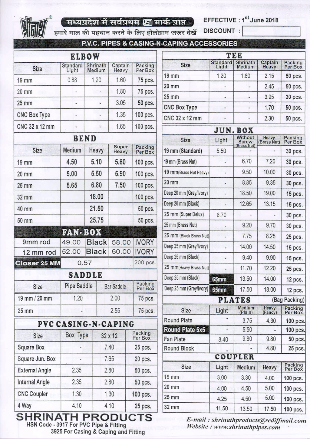 tata gi pipes price list 2017 pdf